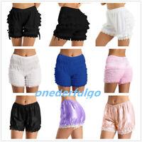 Frilly Knickers Ruffle Panties Women Lace Loose Bloomers Shorts Underwear Dance