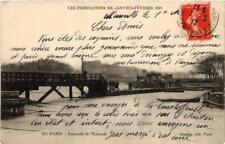 CPA PARIS Passerelle de l'Estacade INONDATIONS 1910 (605579)