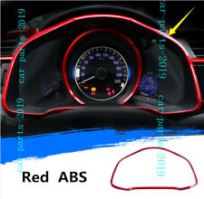 Red Front Dashboard Meter decor Cover Trim For Honda Jazz Fit GK5 2014-2018 2019