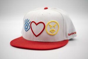 White Red - DGK - I Love Haters - Adjustable Snapback skateboard Hat Cap OSFA