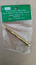 Bl 691Collectable Miniatures Solid Brass W/18K Gold Plated Vermas Bflat Clarinet