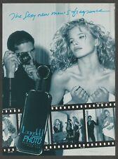 Lagerfeld PHOTO Fragrance for Men.   1991 perfume Print Ad