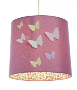 NEW HQ  PENDANT 3D Multi Colour BUTTERFLY CEILING TABLE LAMP SHADE  Girls Room