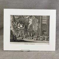 1727 Antico Incisione Picart Moubach Cinese Religion Dio Divinità Vitek 18th C