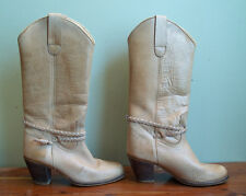 Nobils Vintage Women's Size 6 Leather High Heel Cowgirl Cowboy Boots