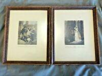 "Vintage 1965 Framed Prints - Francis Wheatley / Cries of London  (7"" x 9"") Frame"