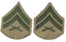 US Marines Corps : galons de manche de Corporal pour tenue tropicale - USMC