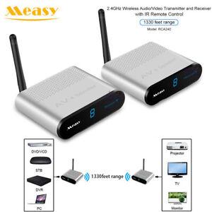 Measy AV240 2.4GHz Wireless Video Audio AV Transmitter Receiver Kit 1330ft 400m