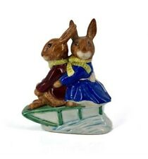 "Royal Doulton Billie & Buntie Bunnykins ""Sleigh Ride"" D84 Figurines"