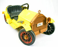 Vintage Stutz Marx: Bearcat Ride On Toy Car - Yellow & Black | PARTS / REPAIR