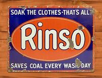 """TIN SIGN """"Rinso Soap"""" Vintage Kitchen Rustic Wall Decor"""