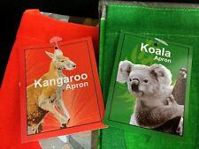 2 x Australian Souvenir Apron 100 Cotton Kangaroo & Koala Design