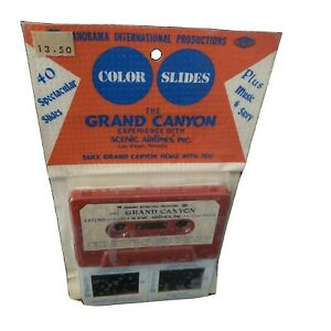 Color Slides Panoramic The Grand Canyon Experience Scenic Airline Cassette 1977