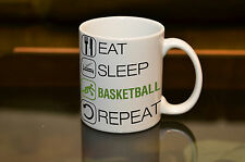 EAT SLEEP Basketball Sublimation Mug Birthday Gift Sport Coffee Personalised