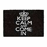 "Relaxdays Paillasson ""keep Calm and Come"" Tapis de sol Fibres Coco Tapis..."