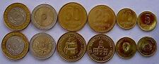 ARGENTINA SERIE 6 MONETE 2009-2013 CON 2 BIMETALLICHE 2-1 PESOS 50-25-10-5 CENTA