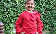 BLOUSE TIE BOW Printed Sewing PATTERN Baby Infant Toddler Girls Sizes 1-10 years