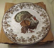 NIB S/4 Williams-Sonoma Plymouth Turkey Dinner Plates