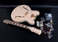1set Guitar Kit ES335 Guitar neck Guitar Body Unfinished Hollow Electric guitar