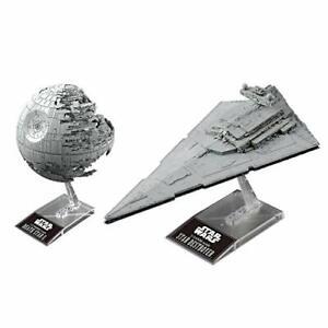 Star Wars Death Star II 1/2700000 & Star Destroyer 1/14500 Model Kit Bandai New*