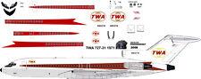 TWA Starstream Boeing 727-100 decals for Airfix 1/144 kit