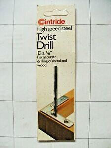 "3 off Cintride 1/8"" High Speed Twist Drill Bits"
