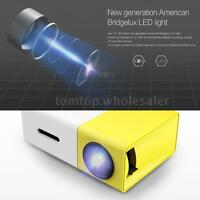 YG300 Mini HD LED Projector Home Theater Cinema 1080P USB HD+MI AV For Laptop PC