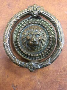 brass Large lion head door knocker