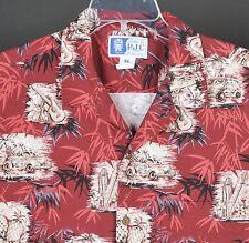 RJC Hawaiian Camp Aloha S/S Shirt Mens XL USA Woody Wagon Surfboards Ukulele
