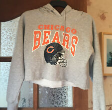 GIRL'S HOODY SIZE S GREY CROPPED STYLE NFL VINTAGE MARKS Vgc
