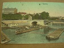 VINTAGE WWI POSTCARD FRANCE 1916 PONT SULLY PARIS