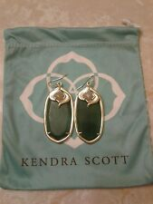 Kendra Scott Emerald Green with Iridescent Gabby Danielle Drop Earrings Rare