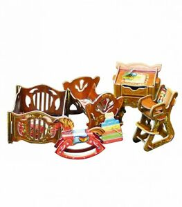 Nursery Furniture for Dolls Furnishing Dollhouse Room Miniature 1/12 CARDBOARD