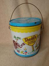 Vintage Shedd's Peanut Butter 5-pound Tin Pail
