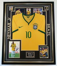 RARE BRAZIL NEYMAR Signed Photo with Shirt Autograph Display *** AFTAL DEALER