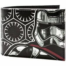 STAR WARS Millennium Falcon Portafoglio Bifold in metallo in pelle portamonete carte Note