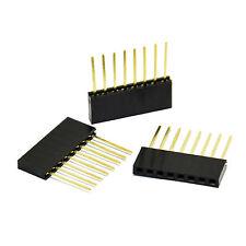 100PCS 8 Pin 2.54 mm Stackable Long Legs Femal Header For Arduino Shield good