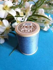 773B/Splendid Spool of Thread Alsa For Embroidery N°40 Blue Clear N° 799