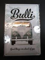 Blechschild VW Bulli Volkswagen Good Things ...,30 cm !!,NEU,metal shield