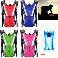2L Water Bladder Bag Backpack + Hydration Pack Outdoor Hiking Camping Camelbak L