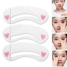 3er Set Augenbrauen Schablonen Hilfe Kosmetik Zupfen