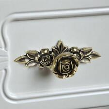 European Style Pull Rose Furniture DIY Cabinet Cupboard Door Antique Bronze