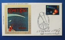 BENHAM 1986 HALLEYS COMET FDC SIGNED BY MYSTIC MEG [ THE NATIONAL LOTTERY ]