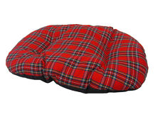 XL extra large coton tartan rouge chien, chat, lit coussin pour l'intérieur panier uk made