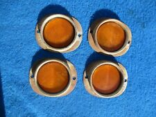 Vintage Original SP 210 # 12A Amber  Reflectors Very Nice Used Set of 4 NICE