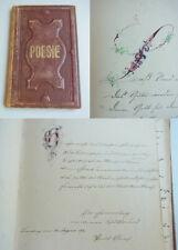 Poetry Album Bromberg & Wilhelmshaven (Military) 1871-75, Entry Arch. Paul Graef