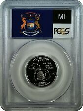 2004-S PCGS PR70DCAM Michigan Statehood Quarter