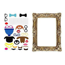 24pcs Photo Booth Large Picture Frame & Photo Props Funny Faces Party