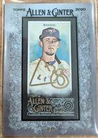 2020 Topps Allen & Ginter X CAVAN BIGGIO GOLD /5 SSP Auto Blue Jays Autograph