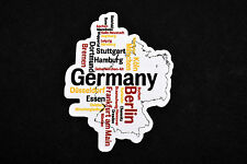 Map Of Germany With Major Cities Flexible Fridge Refrigerator Magnet by Osarix